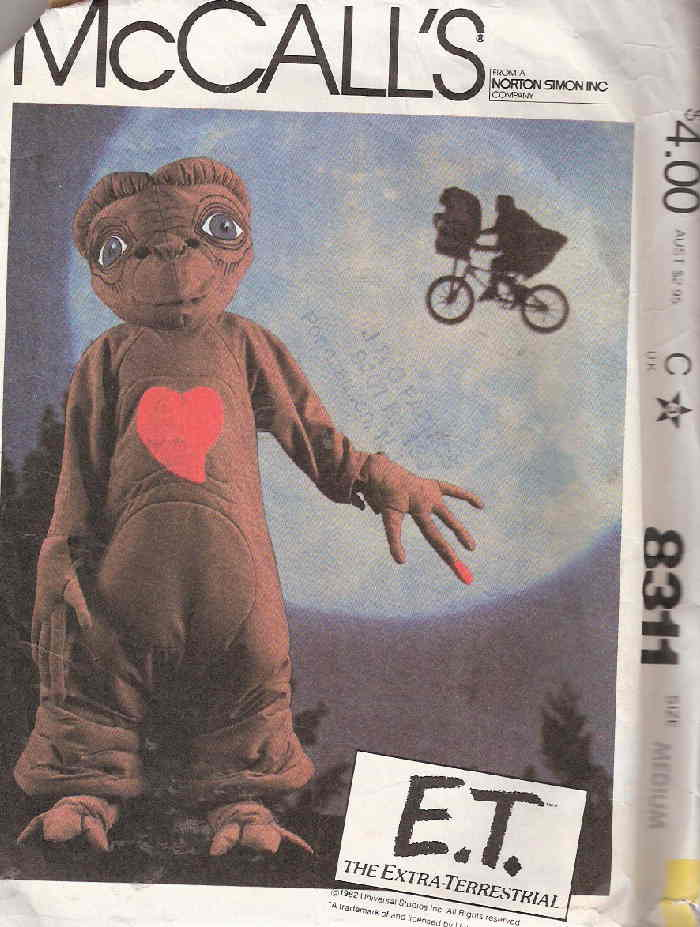 ET E.T. costume sewing pattern