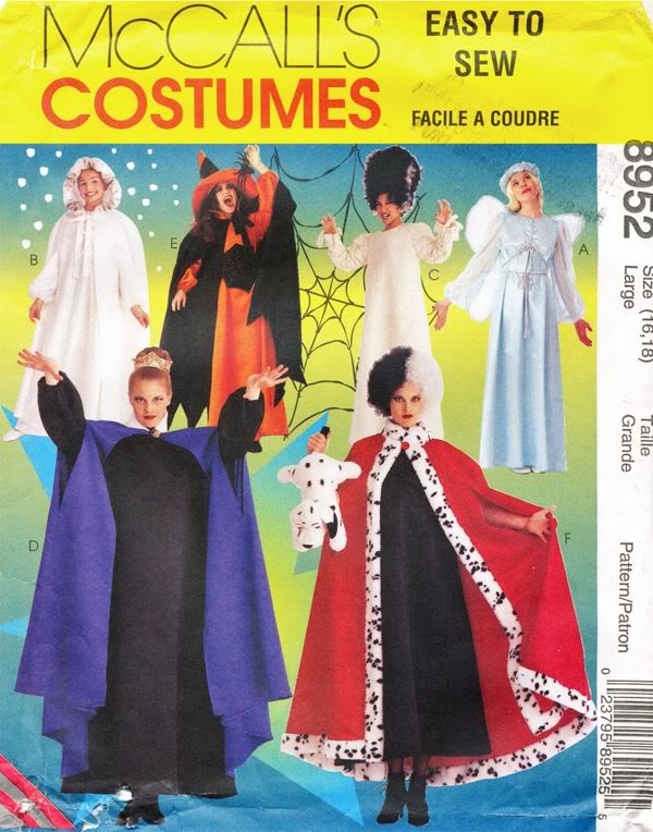 cruella costume sewing pattern