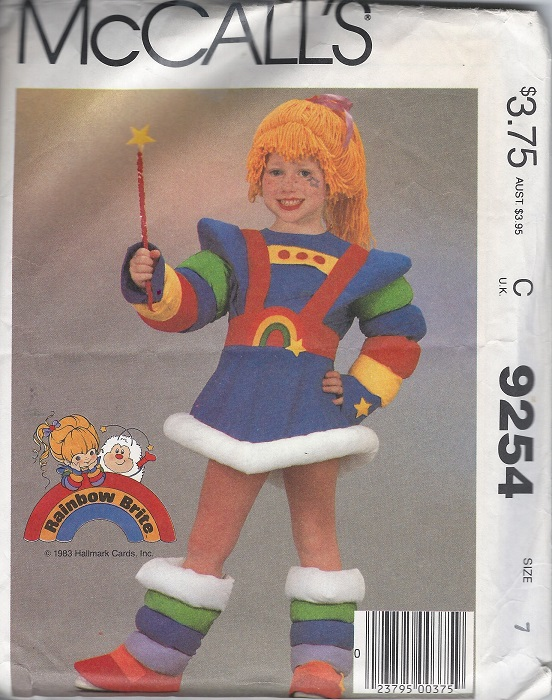 rainbow brite costume sewing pattern