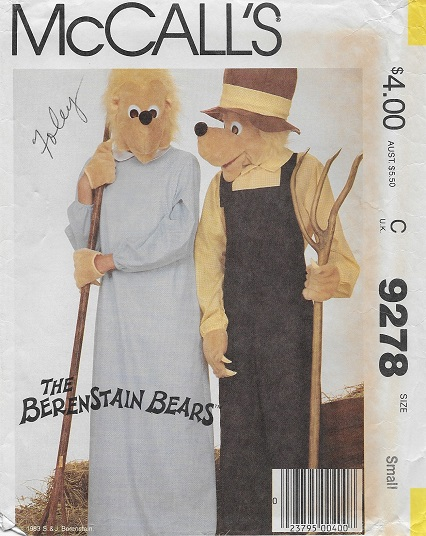 berenstain bears costume sewing pattern
