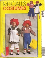 Raggedy Ann Andy costume sewing pattern