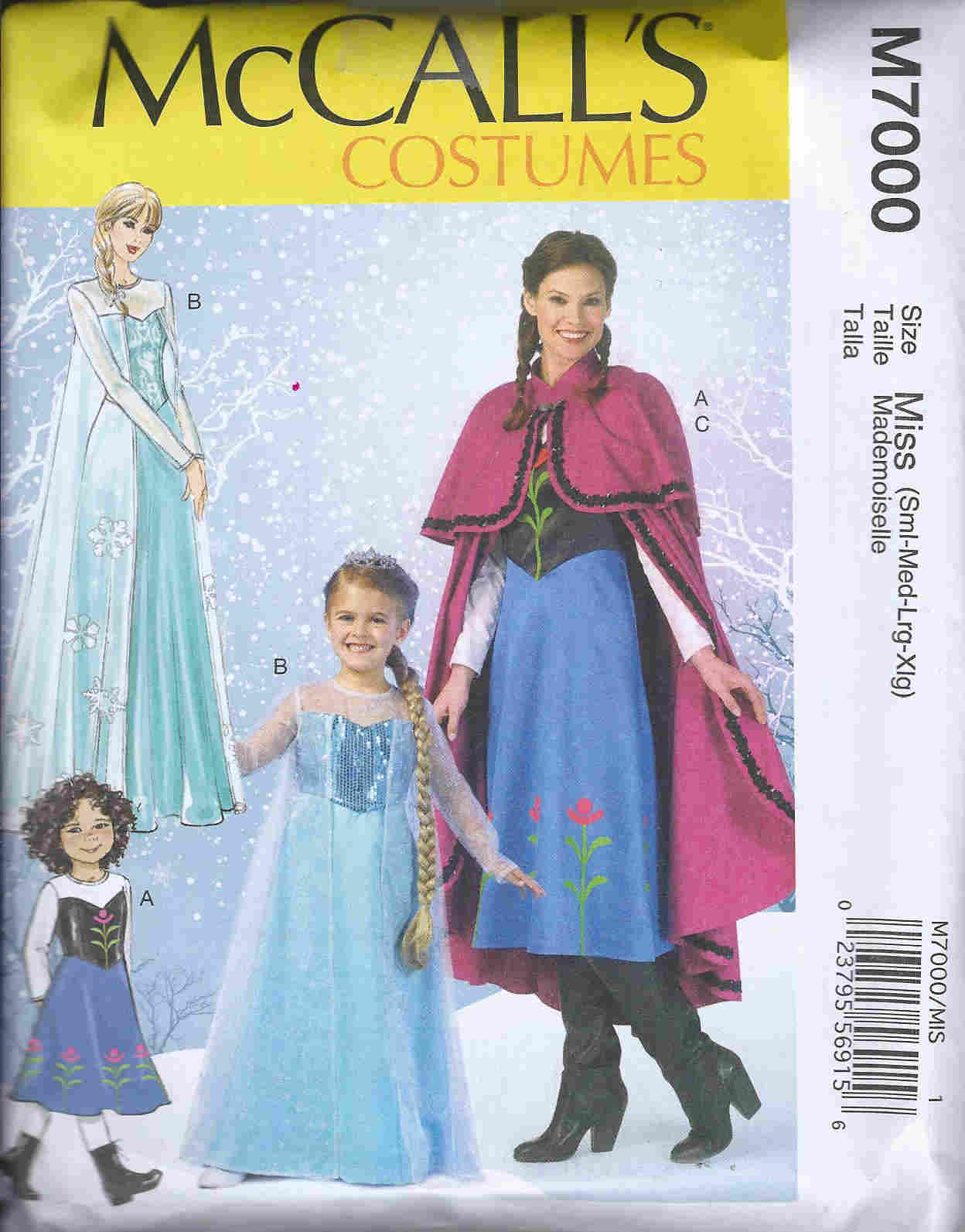 frozen costume sewing pattern