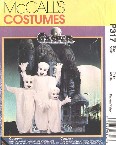 casper costume sewing pattern