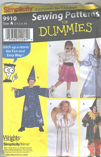wizard scarecrow costume sewing pattern