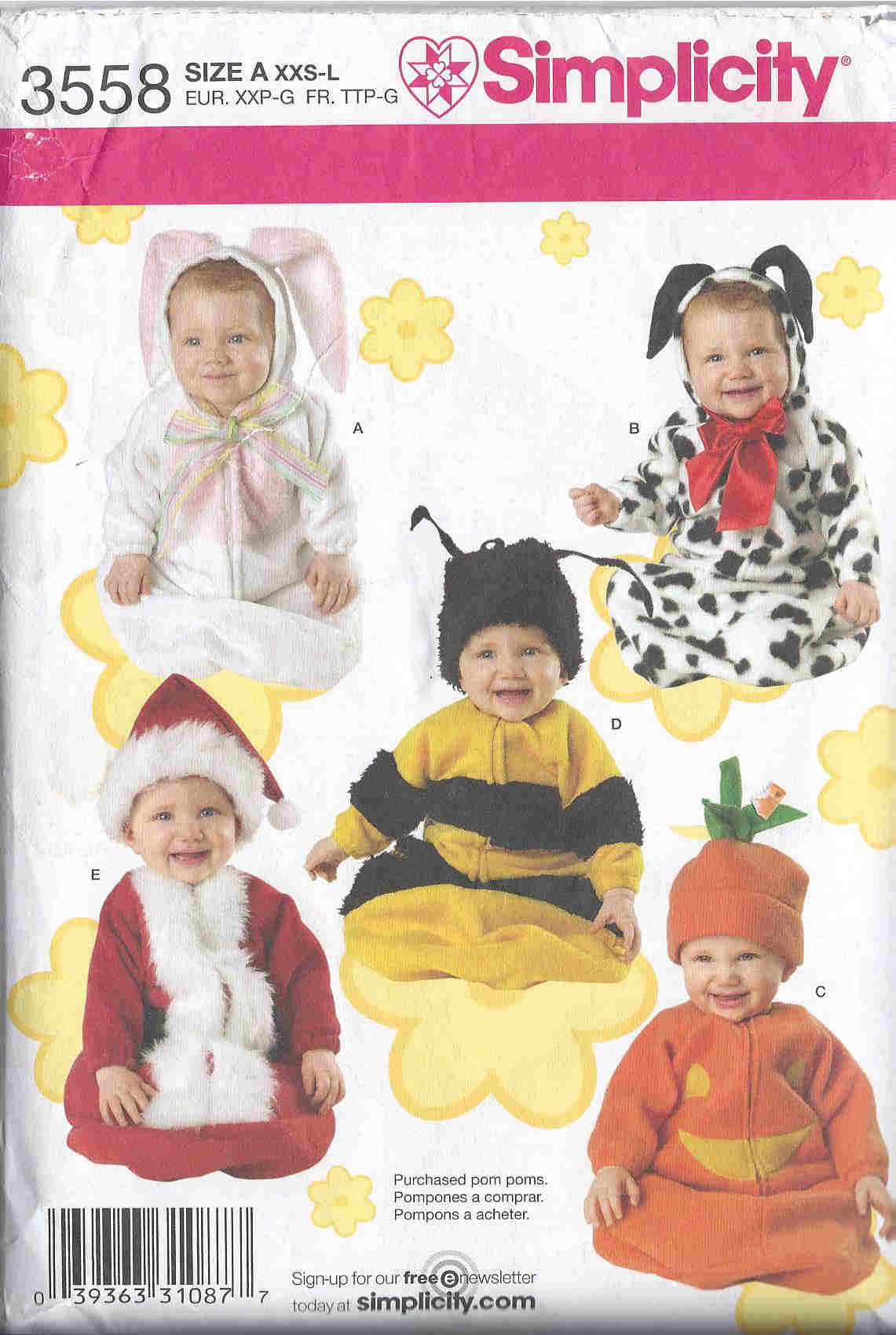 animal santa costume sewing pattern
