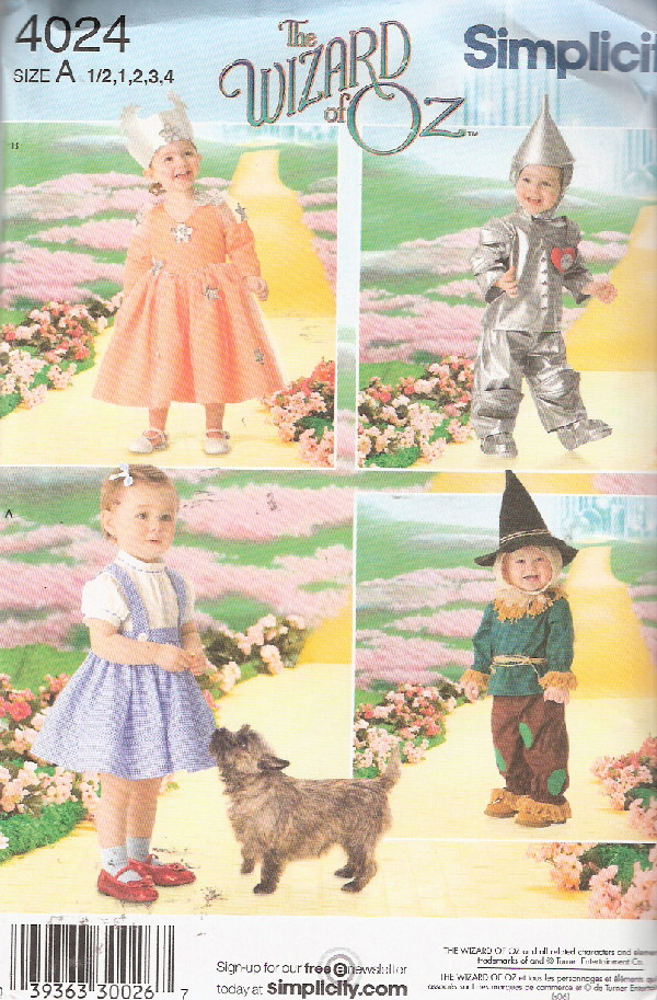 wizard of oz witch costume sewing pattern
