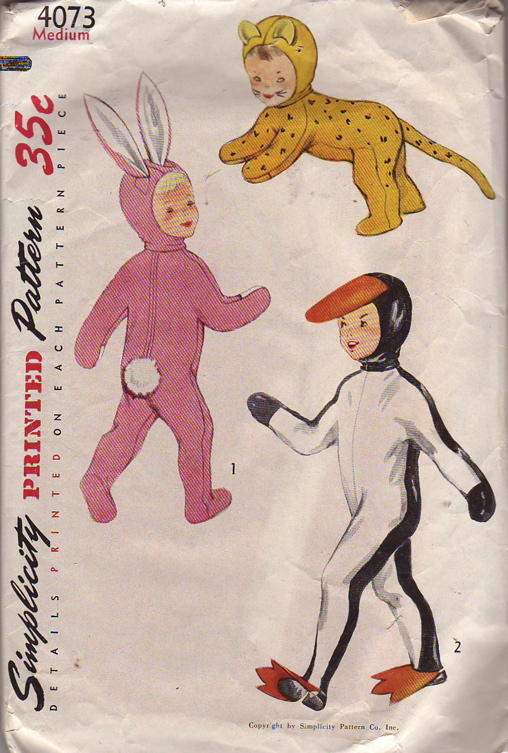 penguin bunny cat animal costume sewing pattern