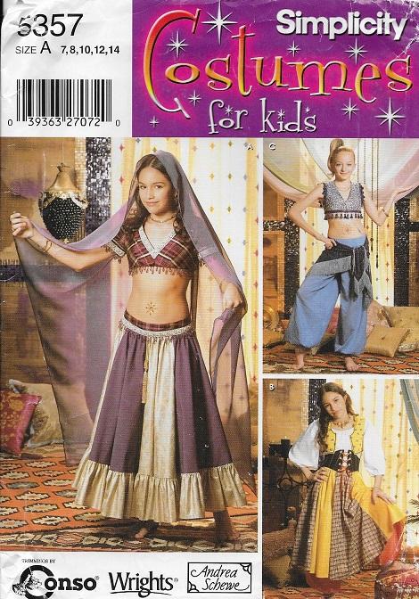 belly dancer gypsy harem girl costume sewing pattern