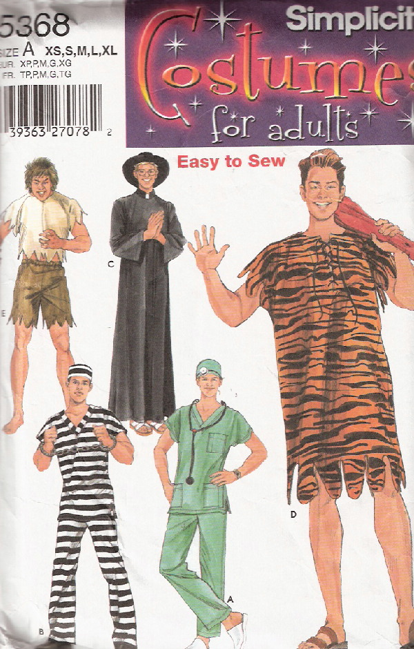 caveman priest doctor costume sewing pattern