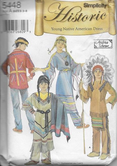 native american costume sewing pattern