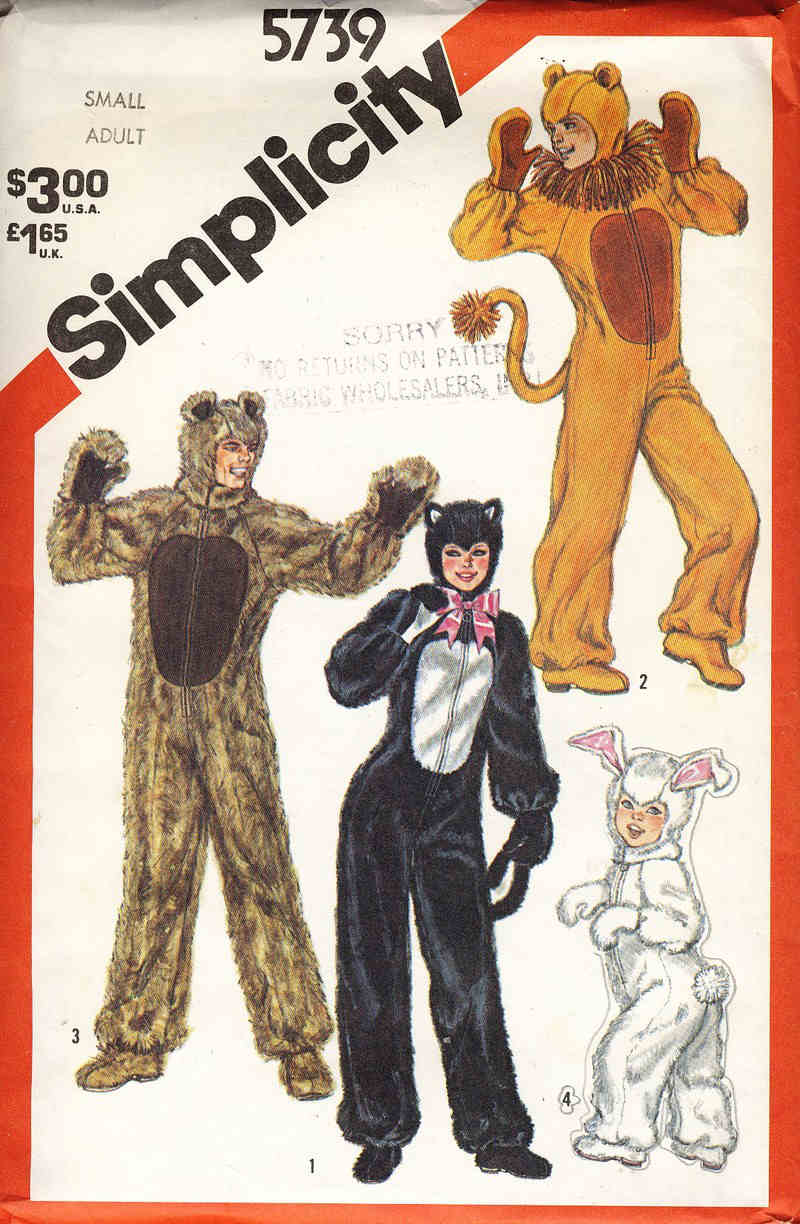 lion costume sewing pattern
