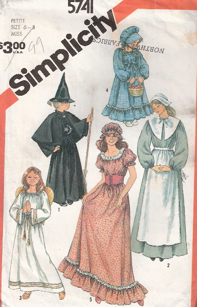 angel pilgrim witch costume sewing pattern