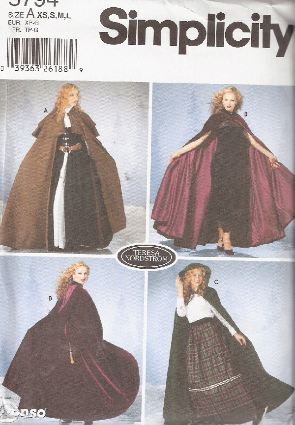 wizard witch magician costume sewing pattern