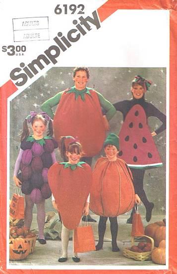 fruit vegetable costume sewing pattern