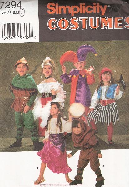 pirate jester gypsy costume sewing pattern