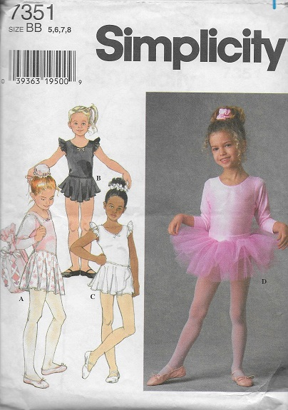 leotard skirt tutu bag sewing pattern