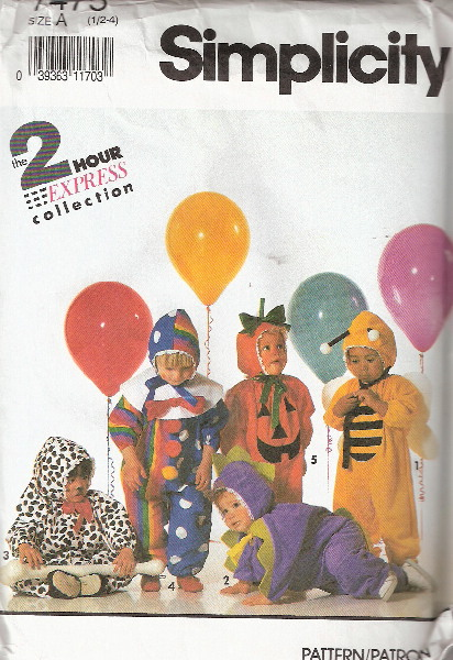 clown animal costume sewing pattern