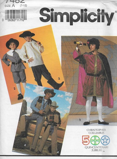 columbus costume sewing pattern