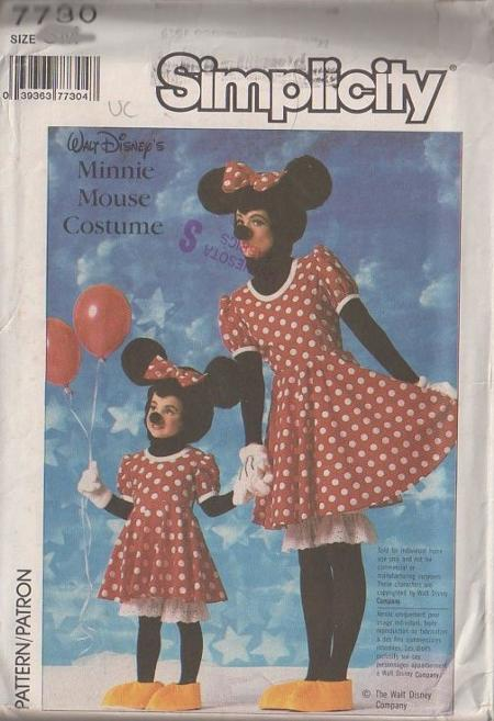 Minnie Mouse costume sewing pattern