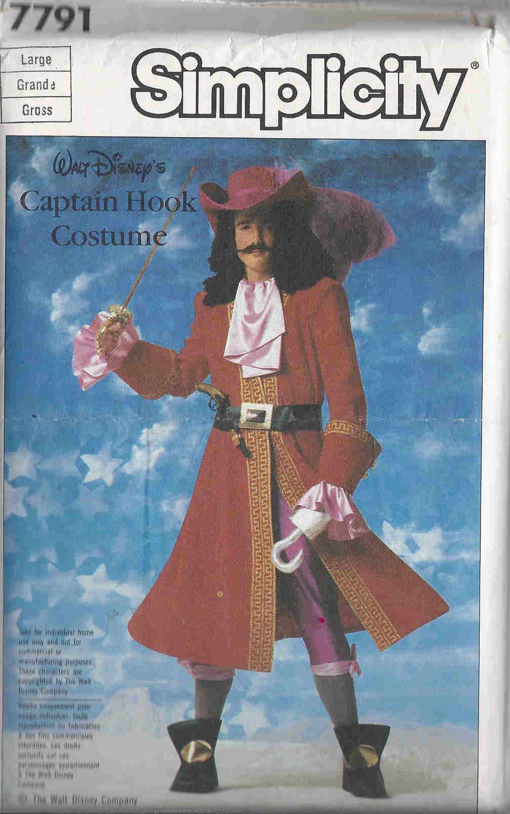 Captain Hook costume sewing pattern