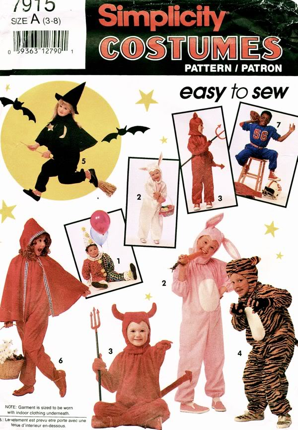 witch animal clown costume sewing pattern