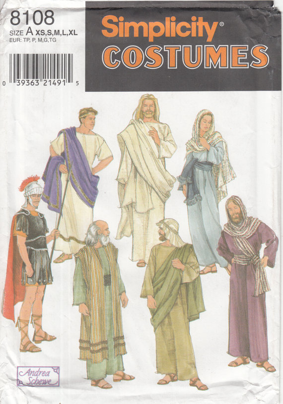 passion play costume sewing pattern