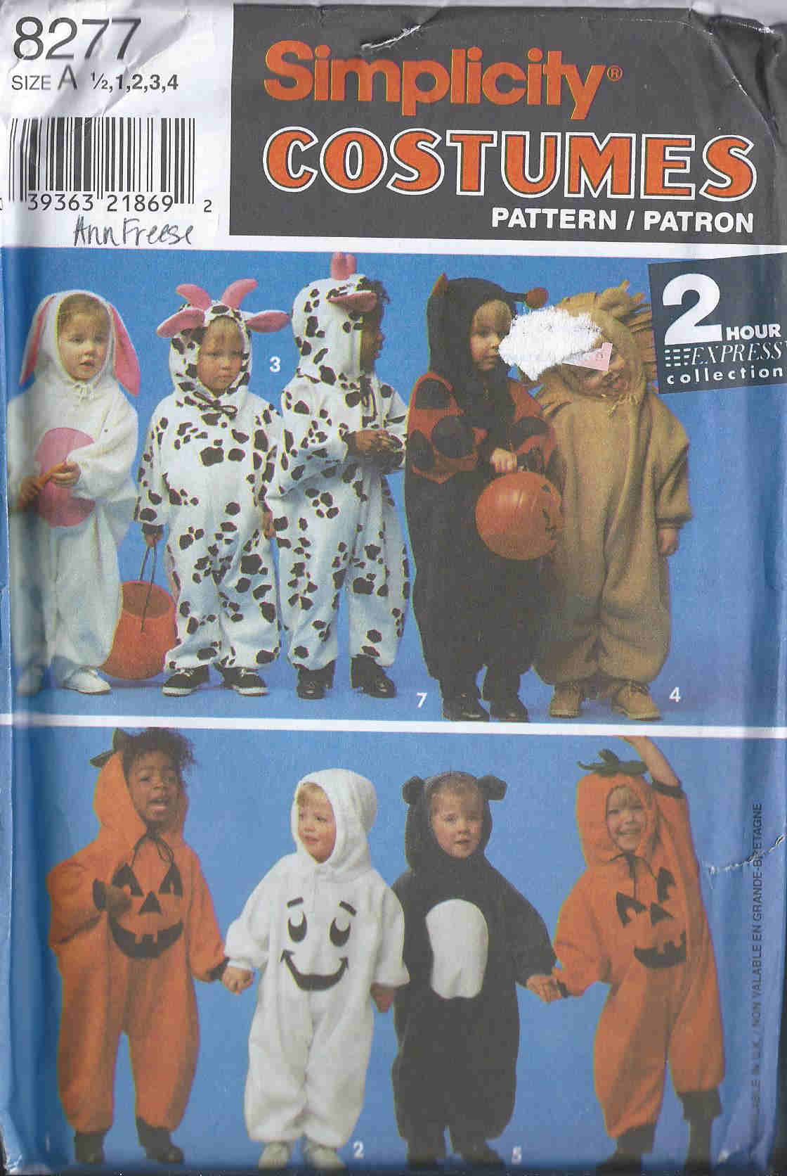 pumpkin animal bug costume sewing pattern