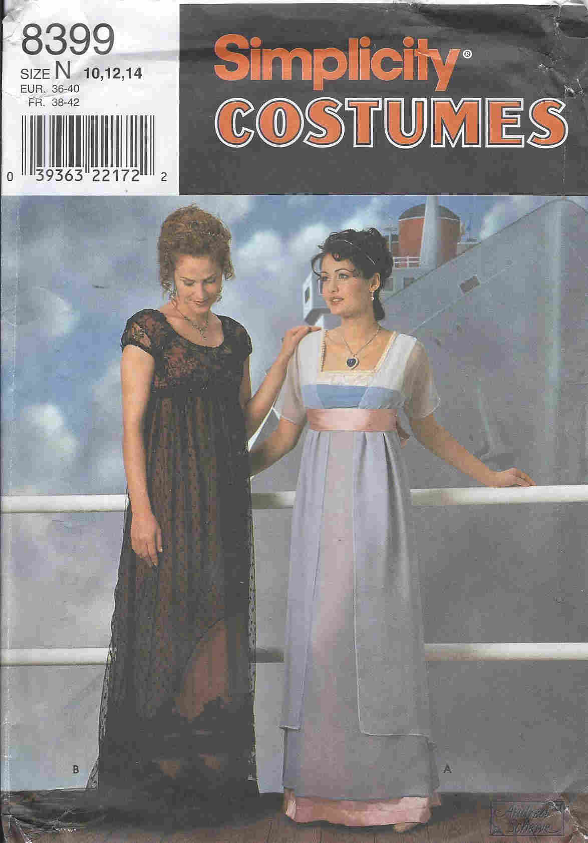 Titanic costume sewing pattern