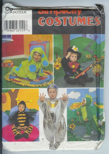 animal bug costume sewing pattern