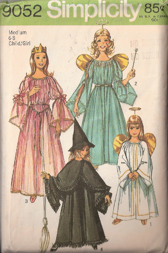 witch princess angel costume sewing pattern
