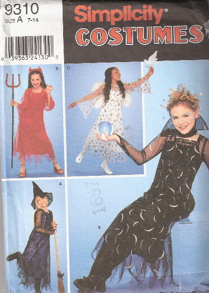 devil witch angel costume sewing pattern