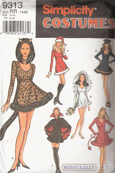 santa bride vampire costume sewing pattern