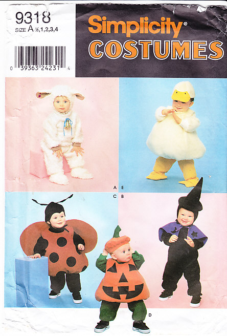 pumpkin witch bug animal costume sewing pattern