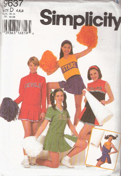 cheerleader costume sewing pattern