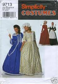 puritan centennial costume sewing pattern