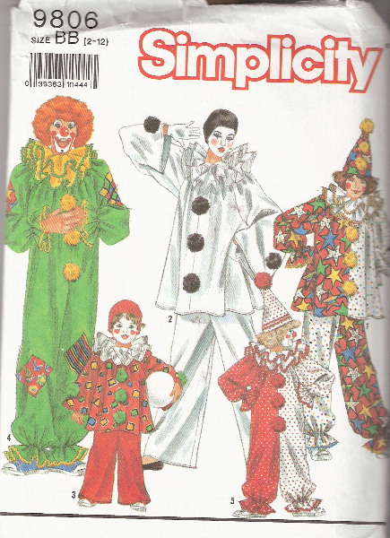 clown costume sewing pattern
