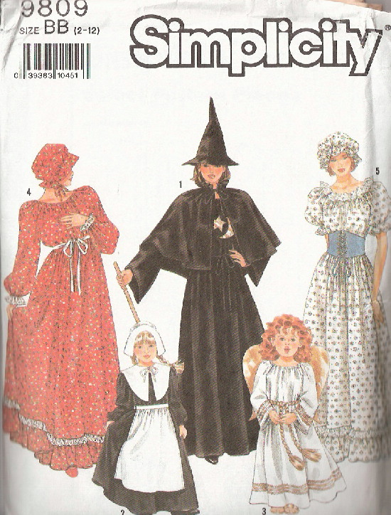 witch pilgrim costume sewing pattern