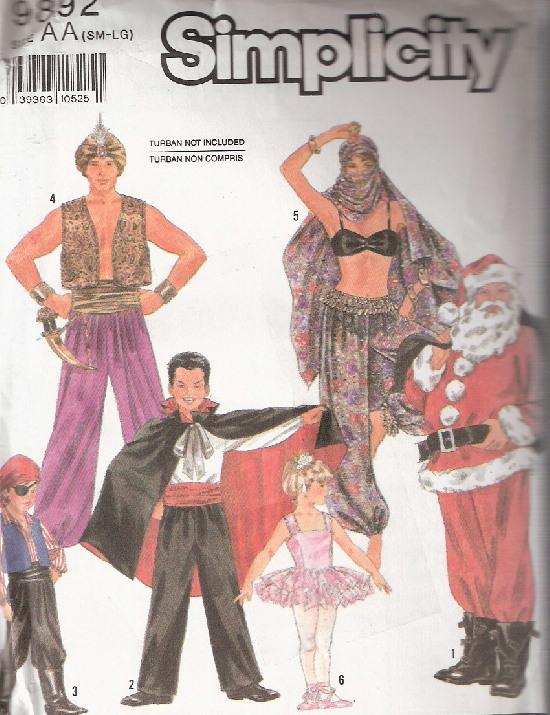 genie dracula pirate ballerina costume sewing pattern