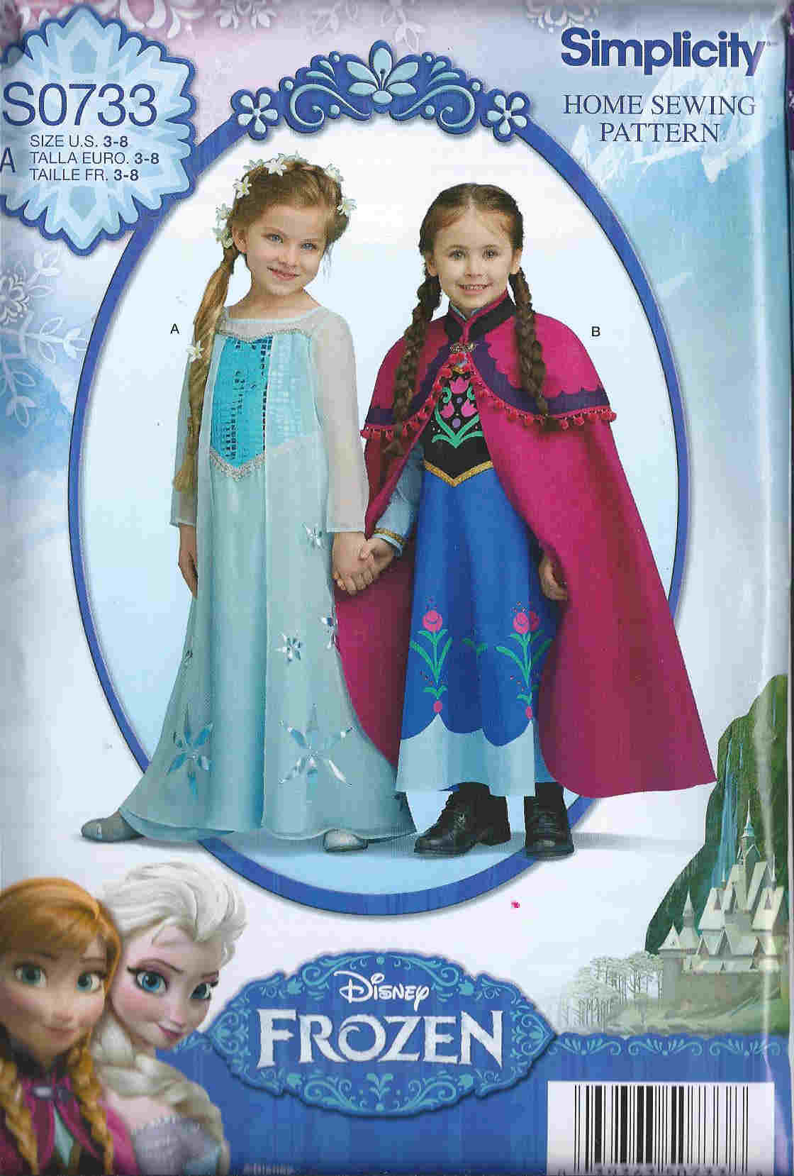 Disney Frozen costume sewing pattern