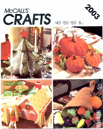 pumpkin tree gingerbread house centerpiece holiday sewing pattern