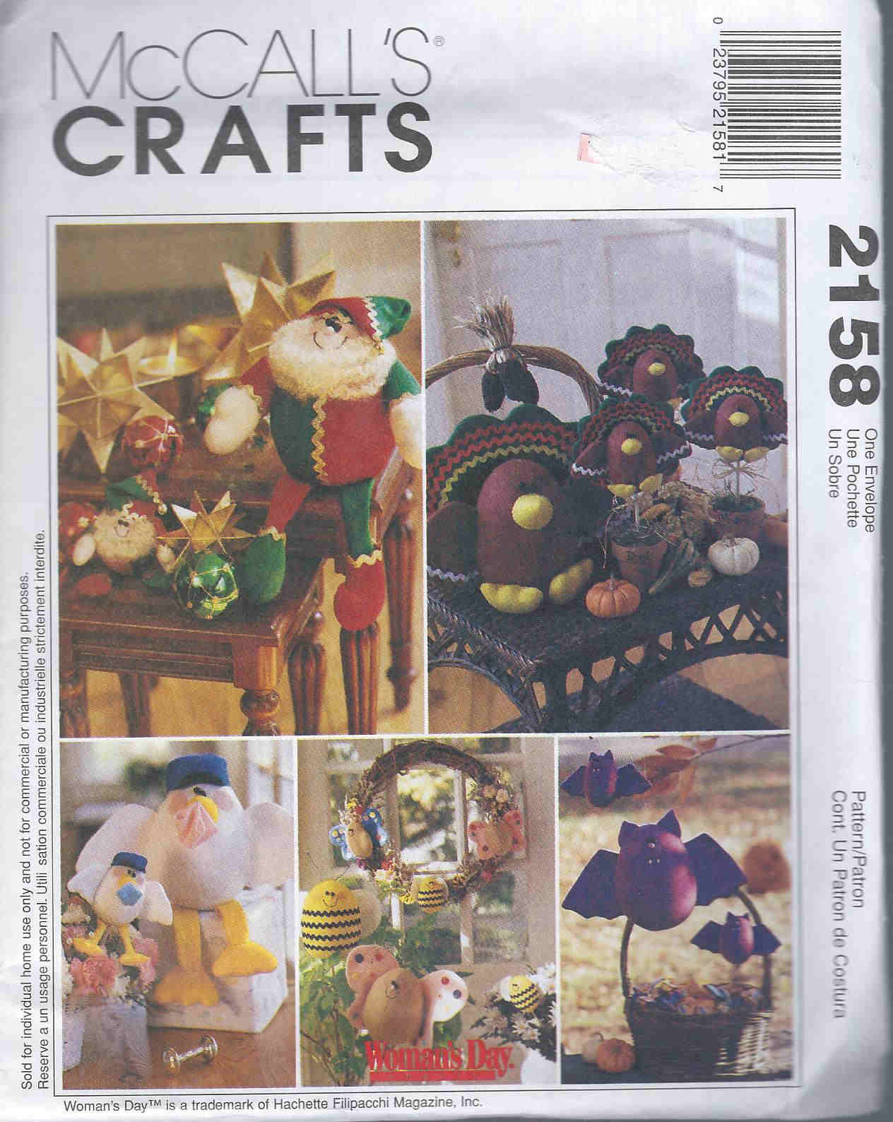 elf turkey stork bat sewing pattern