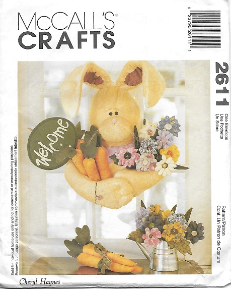 bunny easter sewing pattern