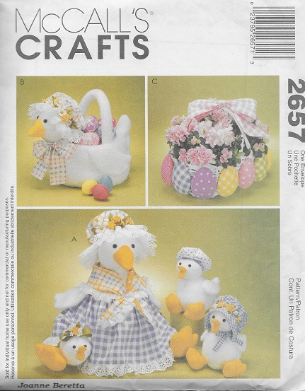 easter duck basket sewing pattern