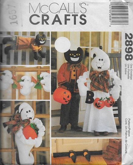 halloween ghost black cat sewing pattern
