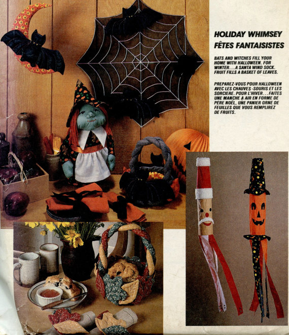 holiday witch centerpiece spider bat basket sewing pattern