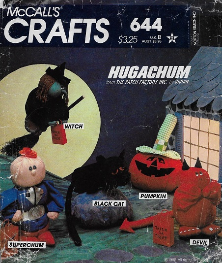hugachum halloween cat pumpkin devil witch sewing pattern