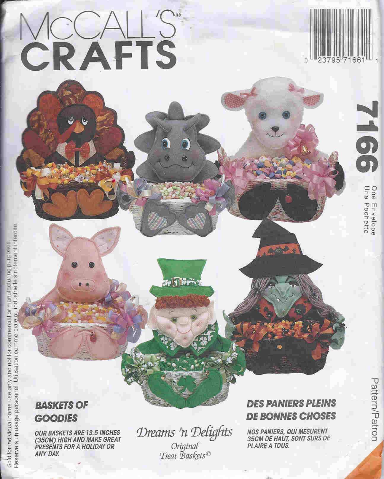 treat basket sewing pattern