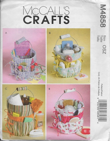bucket organizer sewing pattern