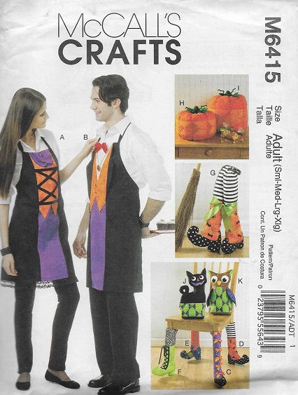 halloween apron decoration sewing pattern