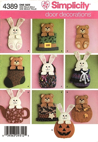 bear bunny decoration sewing pattern